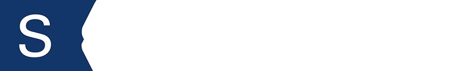 Blå kvadrat med ett vitt S och texten sömnapne.se